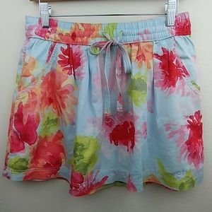 Gilly Hicks floral cotton, lined, summer skirt